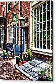 Philadelphia Pa Coffeehouse Acrylic Print by Susan Savad