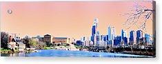 Philadelphia Panoramic Acrylic Print by Bill Cannon