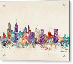 Philadelphia Pennsylvania  Acrylic Print by Bri B