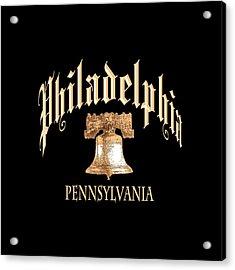Philadelphia Pennsylvania Design Acrylic Print