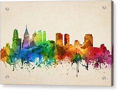 Philadelphia Pennsylvania Skyline 05 Acrylic Print by Aged Pixel