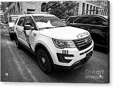 Philadelphia Police Ford Interceptor Utility Patrol Car Vehicle Usa Acrylic Print