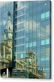 Philadelphia Reflections Acrylic Print by Russ Harris