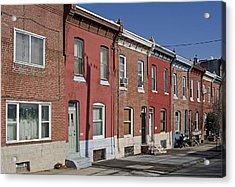 Philadelphia Row Houses Acrylic Print by Brendan Reals