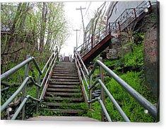 Acrylic Print featuring the photograph Philadelphia - Roxborough Avenue Steps by Bill Cannon