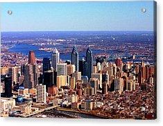 Philadelphia Skyline 2005 Acrylic Print by Duncan Pearson