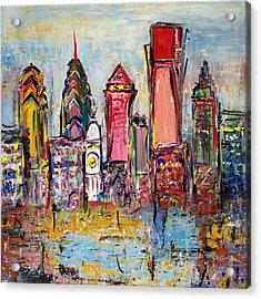 Philadelphia Skyline 232 1 Acrylic Print by Mawra Tahreem