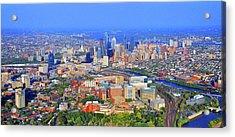 Philadelphia Skyline 3400 Civic Center Blvd Acrylic Print by Duncan Pearson