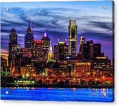 Acrylic Print featuring the photograph Philadelphia Skyline by Nick Zelinsky