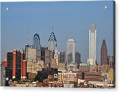 Philadelphia Standing Tall Acrylic Print by Bill Cannon