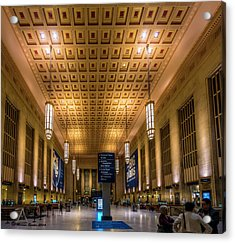 Philadelphia Train Station Acrylic Print by Marvin Spates