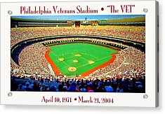 Philadelphia Veterans Stadium The Vet Acrylic Print by A Gurmankin
