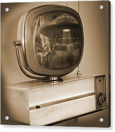 Philco Television  Acrylic Print by Mike McGlothlen