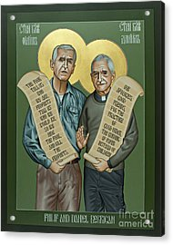 Philip And Daniel Berrigan Acrylic Print