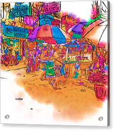 Philippine Open Air Market Acrylic Print