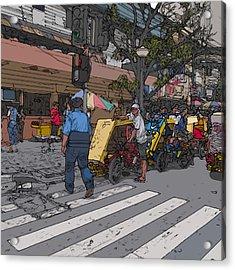 Philippines 906 Crosswalk Acrylic Print by Rolf Bertram