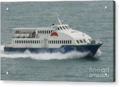 Philippines Island Ferry Acrylic Print by Mike Holloway