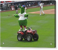 Phillie Phanatic Acrylic Print by Jennifer  Sweet