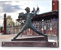 Phillies Hall Of Fame Pitcher Steve Carlton Acrylic Print by Bill Cannon