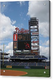 Phillies Acrylic Print by Jennifer  Sweet