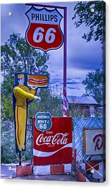 Phillips 66 Sign Acrylic Print by Garry Gay