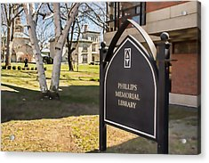 Phillips Memorial Library Providence College, Artistic Acrylic Print