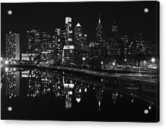 Philly And The Schuylkill Bw Acrylic Print
