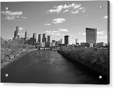 Philly B/w Acrylic Print