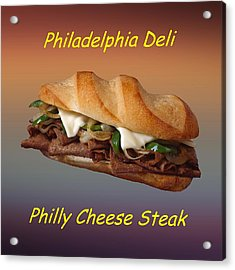 Philly Cheese Steak Customized  Acrylic Print by Movie Poster Prints