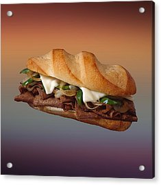 Philly Cheese Steak  Acrylic Print by Movie Poster Prints