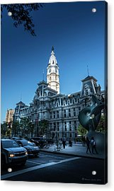 Philly City Hall Acrylic Print by Marvin Spates
