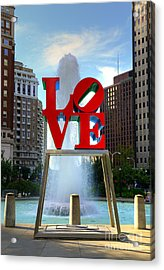 Philly Love Acrylic Print by Paul Ward