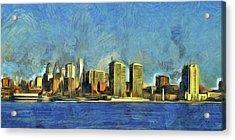Philly Skyline Acrylic Print by Trish Tritz