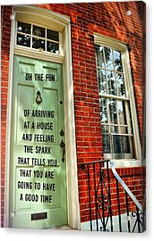 Philly Welcome Quote Acrylic Print by JAMART Photography