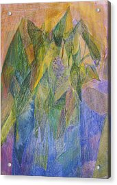 Philodendron Phun Acrylic Print by Jan Cline-Zimmerman