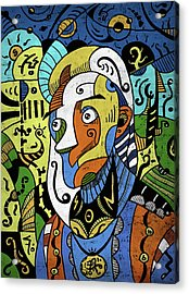 Acrylic Print featuring the digital art Philosopher by Sotuland Art