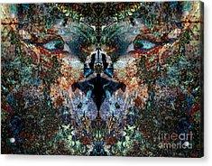 Philosophical Feline Acrylic Print by Warren Sarle