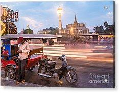 Phnom Penh Tuk Tuk Acrylic Print