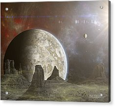 Phobos Acrylic Print by Mark Allen