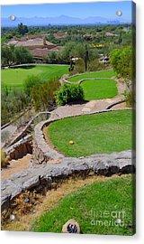 Phoenician Golf Club Series - 69 - Signature Hole - Desert 8 Acrylic Print