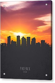 Phoenix Arizona Sunset Skyline 01 Acrylic Print