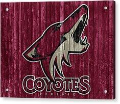 Phoenix Coyotes Barn Door Acrylic Print