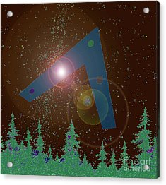 Acrylic Print featuring the painting Phoenix Lights Ufo by James Williamson