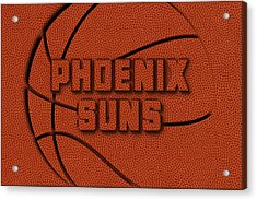 Phoenix Suns Leather Art Acrylic Print