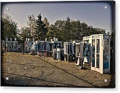 Phone Booth Graveyard Acrylic Print by Kelley King