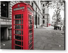 Phone Booths In London Acrylic Print