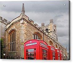 Acrylic Print featuring the photograph Phone Home - Gt St Marys Church Cambridge by Gill Billington