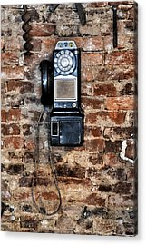 Pay Phone  Acrylic Print