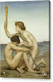 Phosphorus And Hesperus Acrylic Print by Evelyn De Morgan