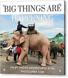 Acrylic Print featuring the photograph #photoadventure #travel #thailand by Mr Photojimsf
